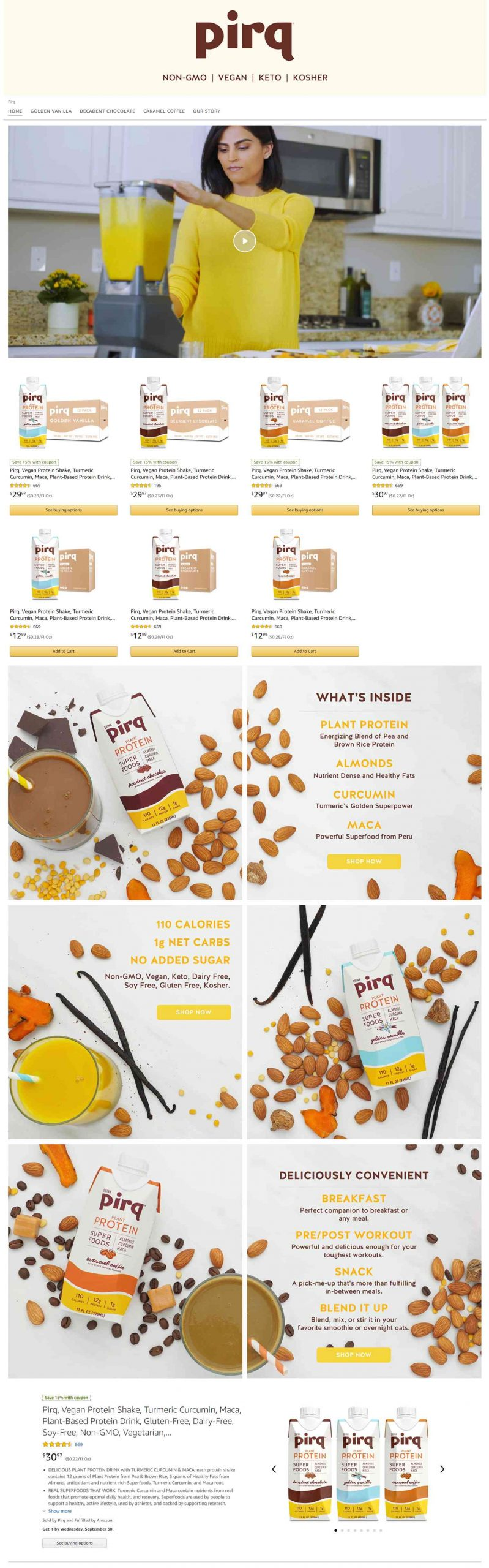 Amazon Storefront Example of Pirq's home page