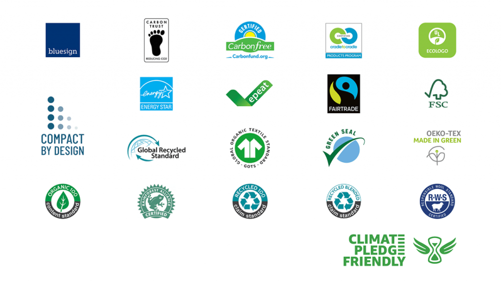 certification partners for the climate pledge friendly badge