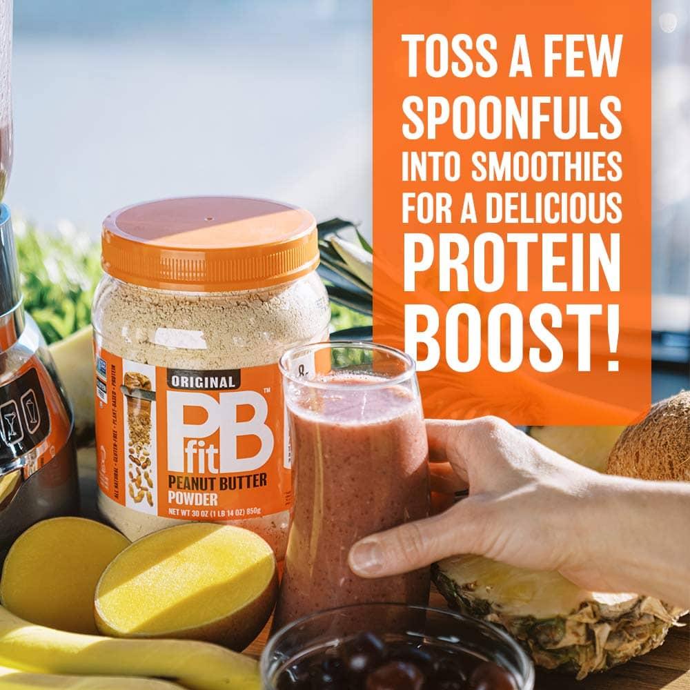 PB Fit peanut butter powder amazon infographics example