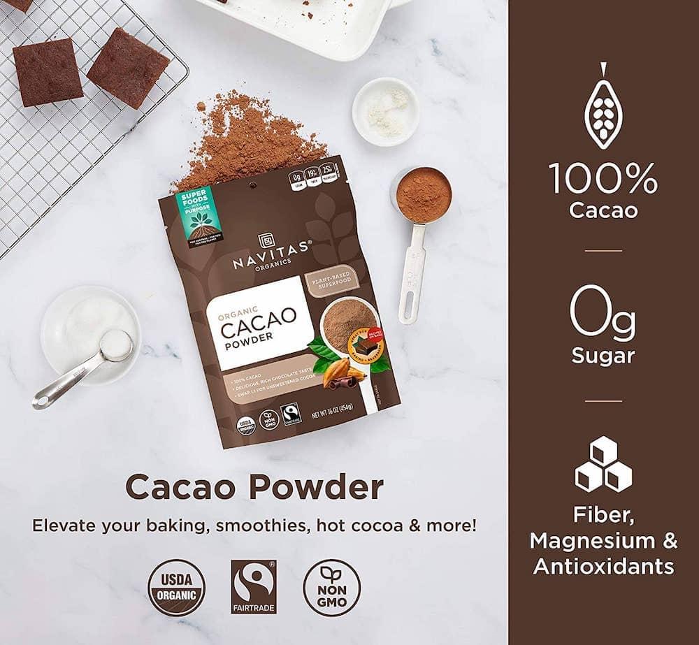 nativas organic cacao powder infographic
